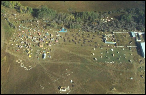 Weekend Warriors Paintball - an Aerial View